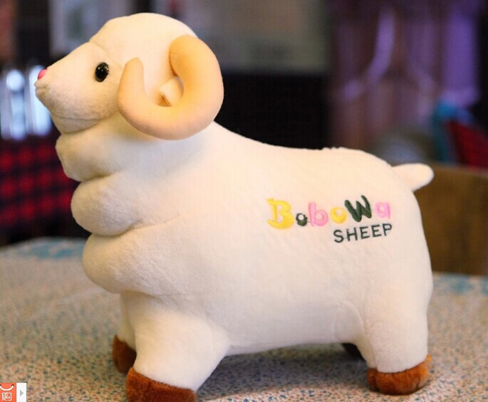40cm lovely sheep plush toy doll throw pillow gift w4802(China (Mainland))