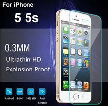 20% off Premium Tempered Glass Screen Protector For iphone 5 5s Glass Film Foil Toughened Cover Guard + Cleaning Kit