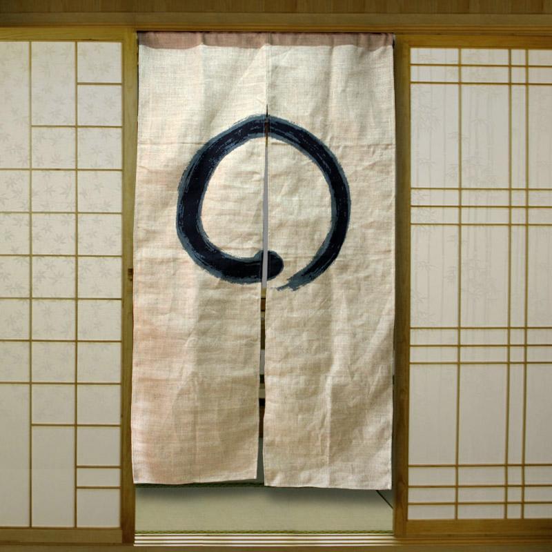 Japan style burlap curtain korean restaurant curtain for Diner style curtains