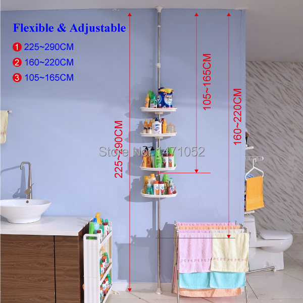 BYN 4 tier corner bathroom shelf plastic bathroom shelf bathroom shelves  DQ 0787. rack cabinet Picture   More Detailed Picture about BYN 4 tier