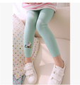 2015 new Baby Kids Girls Cotton pencil Pants Embroidery Bird Warm Stretchy Leggings Trousers 6 colors
