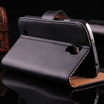 Luxury Retro Genuine Leather Case For Samsung S IV i9500 Wallet Stand Pouch Card Holders Accessories Flip Cover for GALAXY S4