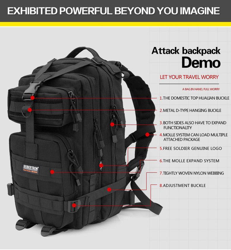 Bag Backpack 3P outdoor 7