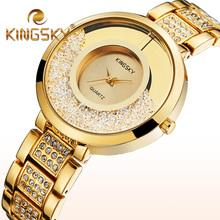 Buy Women Wristwatches Quartz Watches Women Luxury Brand Ladies Gold Silver Rhinestone Watch Reloj Mujer Clock Faux Diamond for $15.85 in AliExpress store