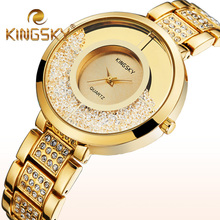Women Wristwatches Quartz Watches Women Luxury Brand Ladies Gold Silver Rhinestone Watch Reloj Mujer Clock Faux Diamond