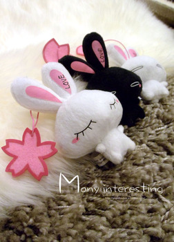 Free shipping Plush doll toy love rabbit mobile phone plush hangings rabbit series