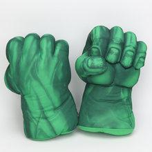 Endgame 33 centímetros vingadores Marvel Incrível Superhero Figura brinquedos do Homem de Ferro homem Aranha o Hulks boxe Luvas presente do menino Hulk luvas(China)