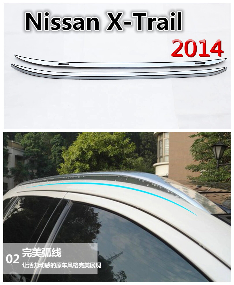 High Quality SUV car 2 pcs/set Roof Rack Luggage rack Roof Racks Accessories For 2014 Nissan X-Trail(China (Mainland))