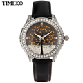 TIME100 Women s Quartz Watches Diamond Leather Strap tree of life Rhinestone Dress Wrist Watch For