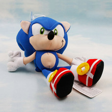 8'' 20cm Sonic the Hedgehog plush toys Sonic speed of sound Dolls kids gift 1pcs Free shipping(China (Mainland))