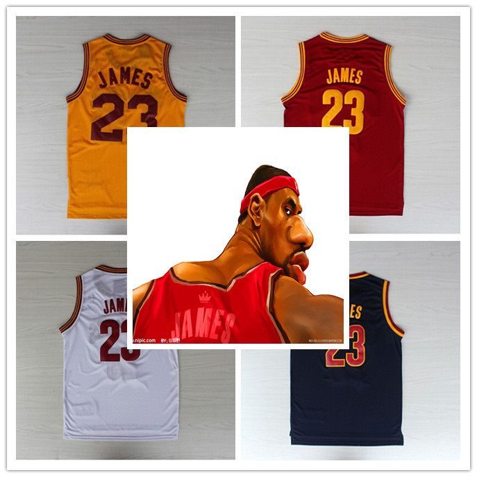 Kids Lebron James Basketball Jerseys Youth Blue White Red Yellow High Quality Embroidery Logos Free Shipping!(China (Mainland))