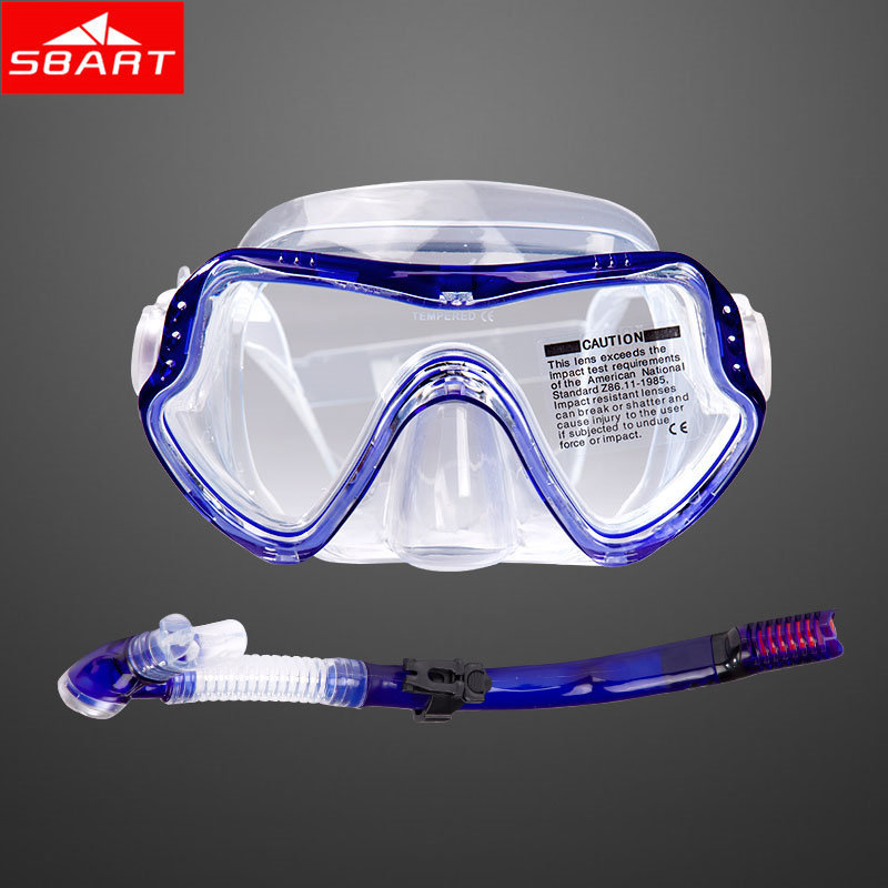 SBART Diving Mask Snorkel Silicone Tempered Glass Scuba Diving Equipment Swimming Mask Swim Dive Goggles Gafas Buceo 2015 New H(China (Mainland))