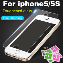 protective glass on the for iPhone4 4S 5 5s 5SE Tempered Glass Screen Protector For iPhone5 HD Toughened Protective Film Guard