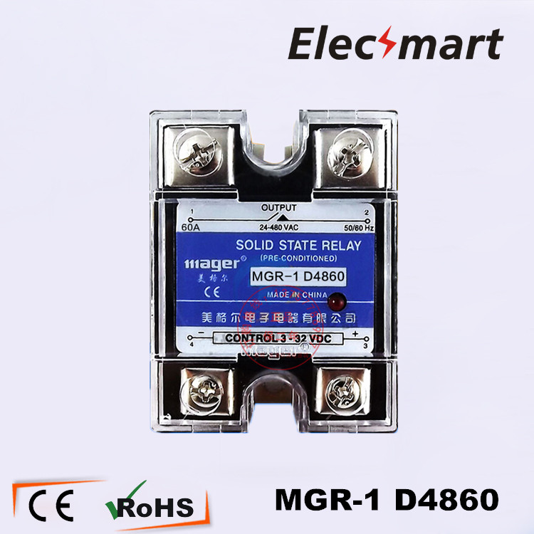 Mager Solid State Relay  SSR DC-AC MGR-1 D4860   high quality<br><br>Aliexpress