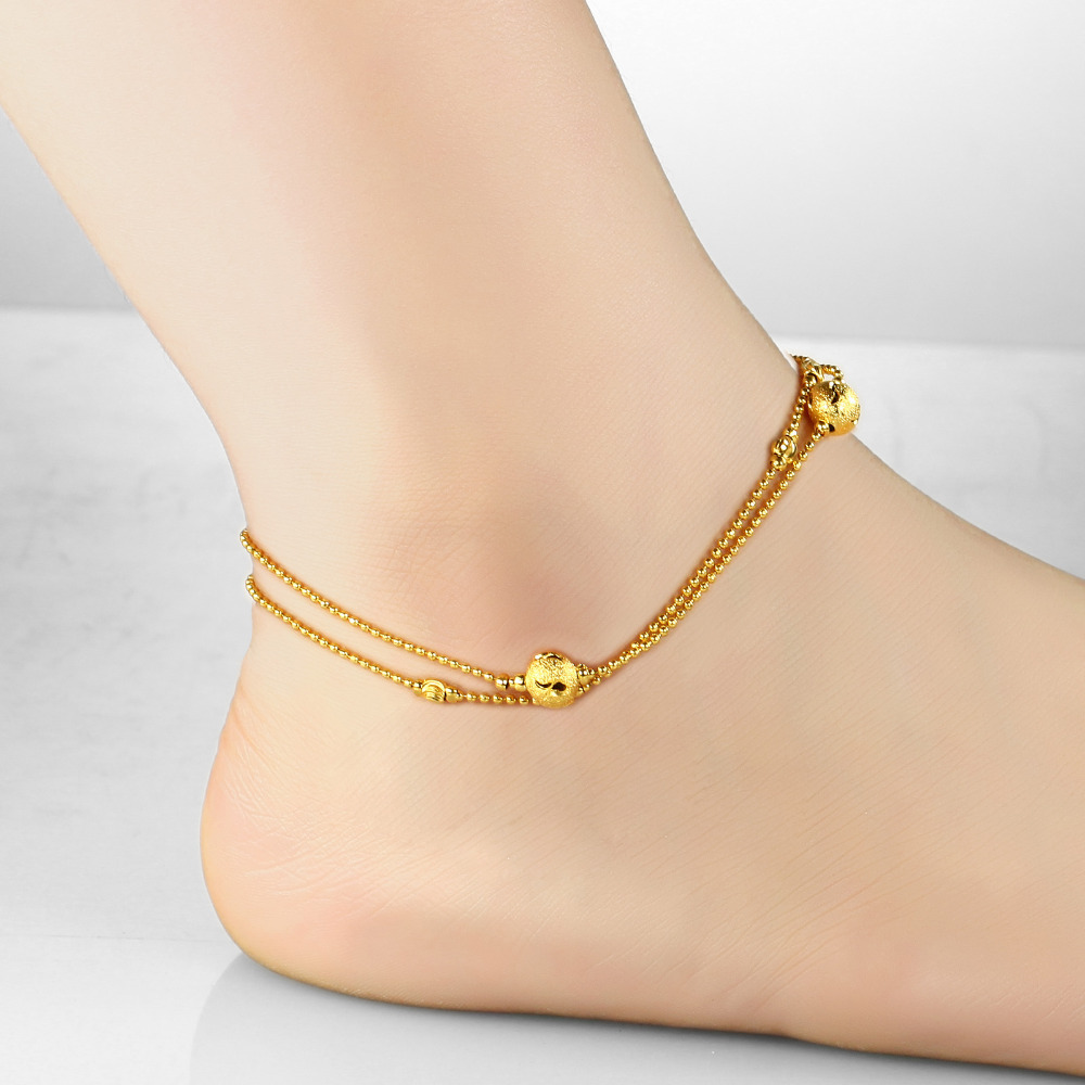 Women's brand new anklet bracelet 18K gold plated anklet fashion foot jewelry designer items good luck leg chain wholesale KZ726(China (Mainland))