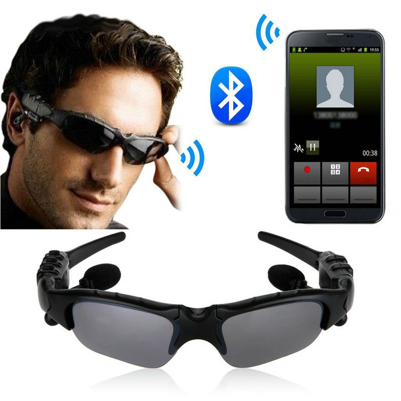 Sports Stereo Wireless Bluetooth 4.0 SunGlasses Headset Headphones Handfree for iphone +mp3 Riding Eyes Glasses for Samsung HTC(China (Mainland))