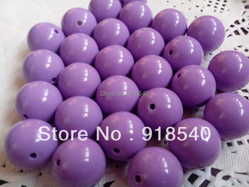 L.t Purple Large 20MM 105pcs Big Chunky Gumball Bubblegum Acrylic Solid Beads ,Colorful Chunky Beads for Necklace Jewelry