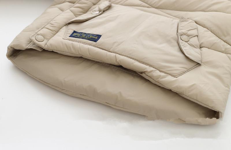 Скидки на 2-6 Лет Ребенка Зимой Утолщенной Капюшоном Чистый Кашемир, Хлопок-Проложенный Одежды мальчика Девушки Стихарь ветрозащитная Куртка
