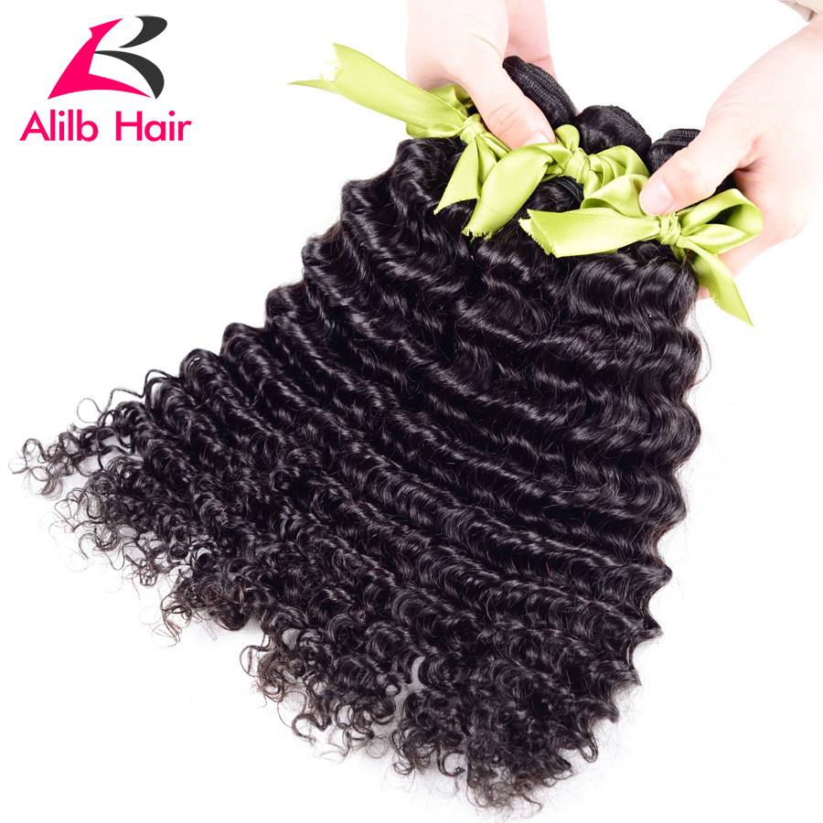 Peruvian Deep Wave 3 bundle deals great unprocessed virgin hair Peruvian Curly Hair Peruvian deep wave 100% human hair extension(China (Mainland))