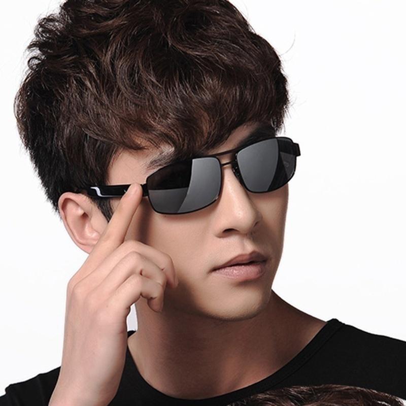 Mirror Lens Polarized Sunglasses Men Sun Glasses for Men Vintage Sunglasses(China (Mainland))