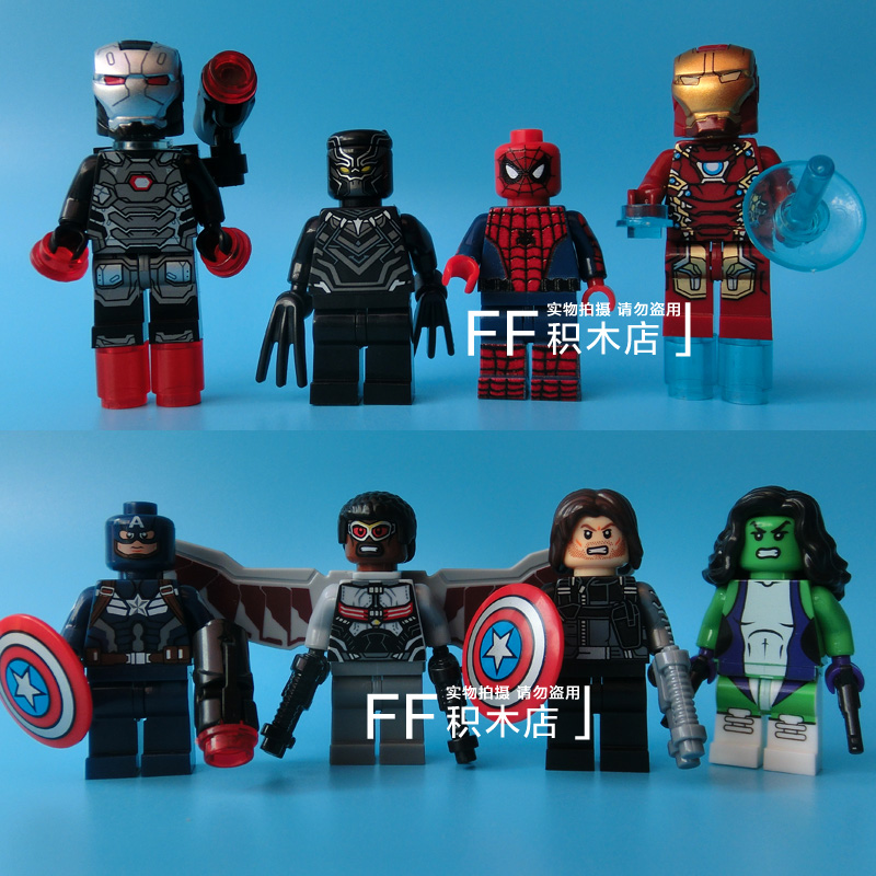 Avengers Captain Aemrica Falcon Iron-Man She-Hulk Winter Soldier Black Panther Building Blocks Minifigures Kids Toys Gifts - LEG0 TOYS store
