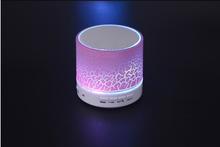 Led Light Bluetooth Speaker Column Portable Small Mini Bluetooth Speakers Wireless Smart Hands Free Blue tooth Speaker