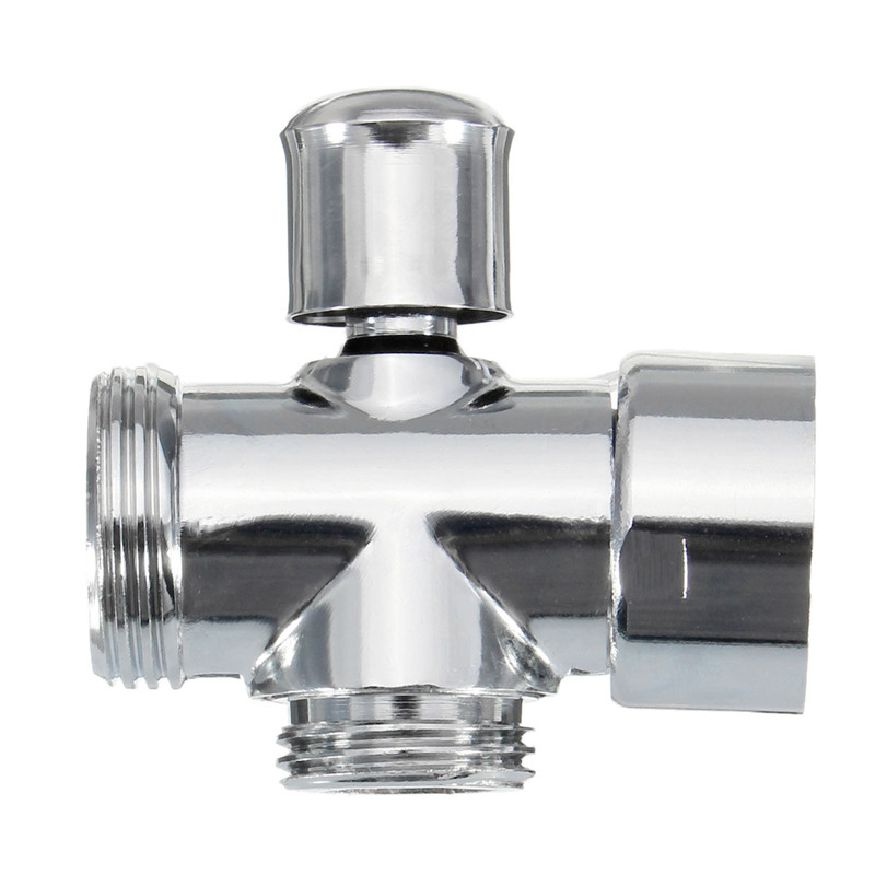"""NEW High Quality Universal Showering Components Brass Chrome Shower Diverter 3/4"""" and 1/2"""" BSP Valve(China (Mainland))"""