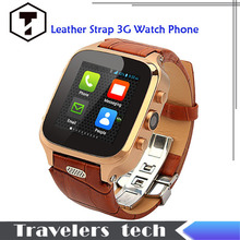 Original Smart W9 genuine leather Android Watch Phone MTK6572 1.54 Inch IPS Screen 3G WCDMA Dual Core 5.0MP 1GB RAM 8GB ROM(China (Mainland))