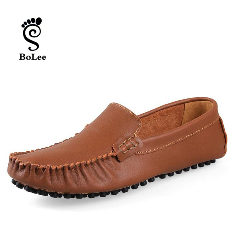 best quality leather flats casual shoes soft loafers