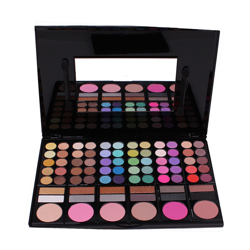 New Pro Makeup Set 78 Color Eyeshadow Palette Cheek Blush /Pressed Powder/ Eye Shadow Makeup Palette Glitter Eyeshadow(China (Mainland))