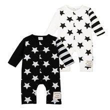 Star Romper Spring Autumn Fashion font b Newborn b font Baby Clothes Infant Boys Girls Rompers