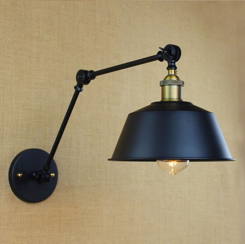 Фотография Nordic Loft Style Edison Wall Sconce Vintage Industrial Wall Lamp Iron Arm Wall Lights For Home Lighting Lamparas De Pared