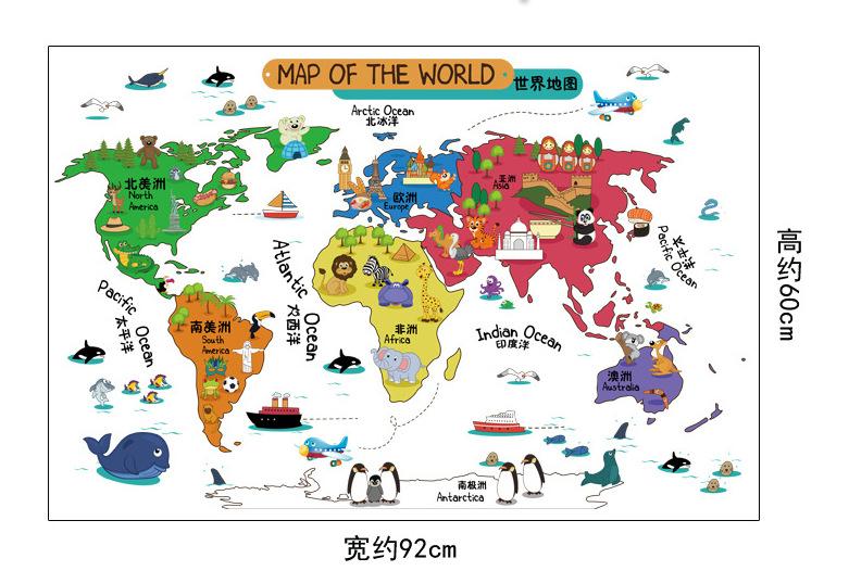 Cartoon world map compra lotes baratos de cartoon world for Mapa del mundo decoracion