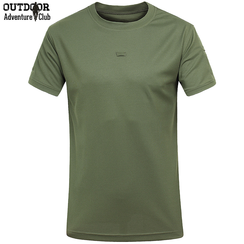 Military Coolmax Quick Dry Outdoor T Shirt Men Summer Breathable Army Training Tactical T-Shirt Short Sleeve Hike Sport Tshirt(China (Mainland))