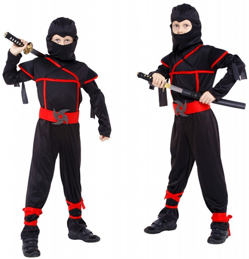 Classic Halloween Costumes Cosplay Costume Martial Arts Ninja Costumes For Kids Fancy Party Decorations Supplies Uniforms(China (Mainland))