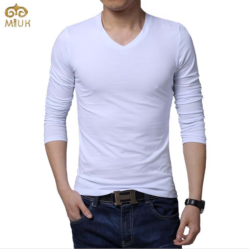Autumn big size solid undershirt 5xl v neck casual men t for Large v neck t shirts