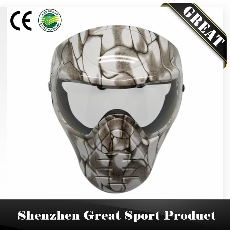 White Tactical Army Military Anti Fog Full Face Paintball Mask - Ariel Liao's Store store