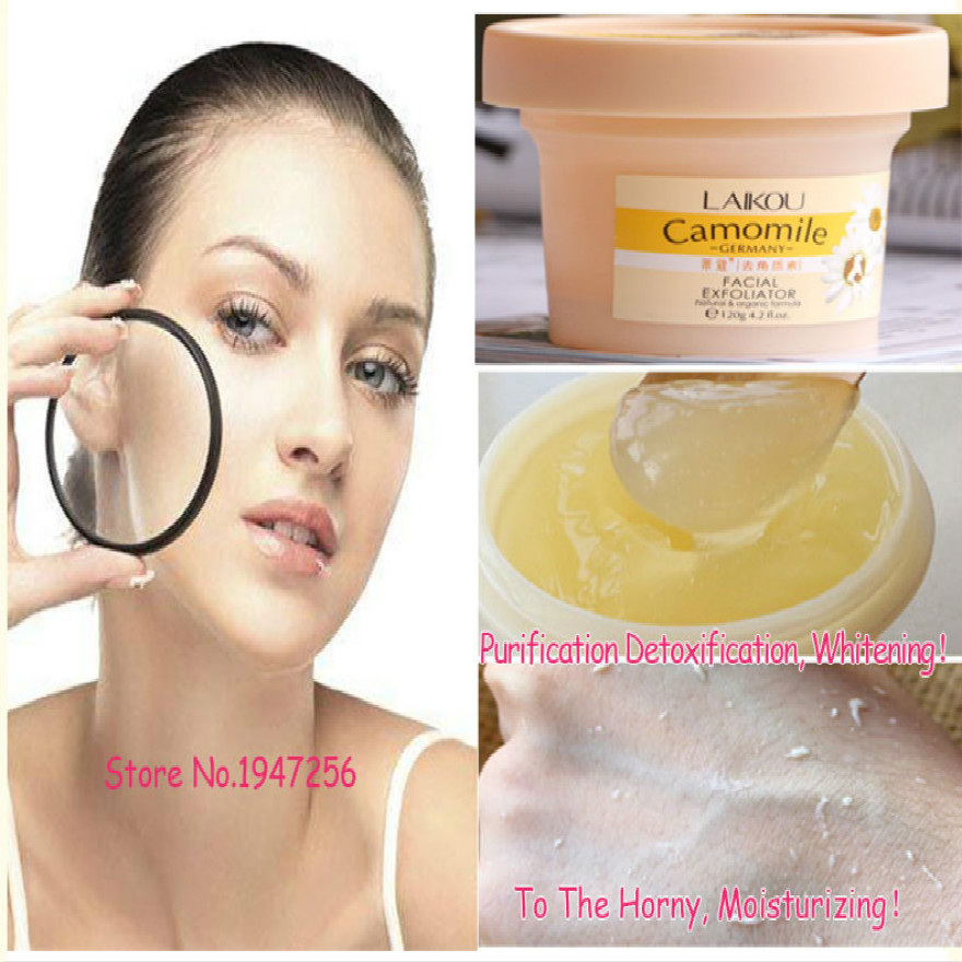 120g Natural And Organic Facial Exfoliator Exfoliating Cream Gel Face Facial Scrub Removal Whitening Peeling Cream Day Creams