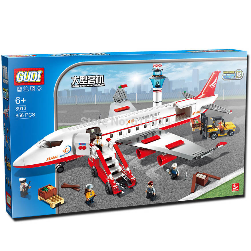 GUDI Aircraft Airplane Aeroplane Plain Models Educational Assemble Building Block Toys For Children No Original Box(China (Mainland))
