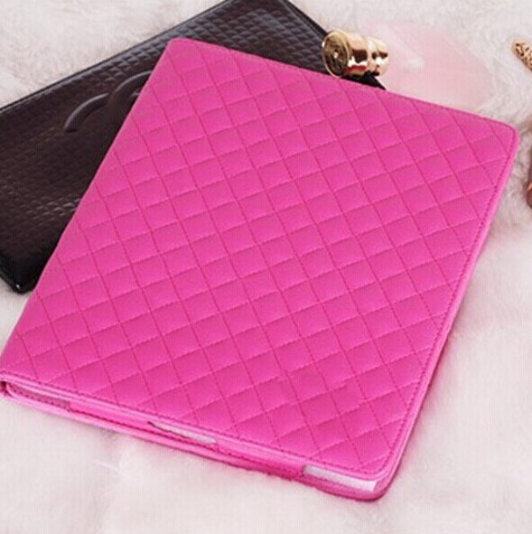 10pcs free shipping Luxury sheepskin leather cover with stand for ipad5 case,For ipad air 5 leather case luxury with cc logo<br><br>Aliexpress