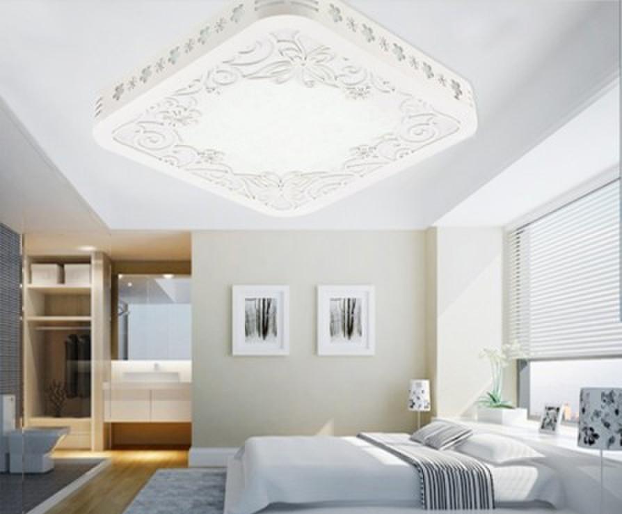 light white square living room light restaurant dining room study led ceiling light lamp white ceiling light(China (Mainland))