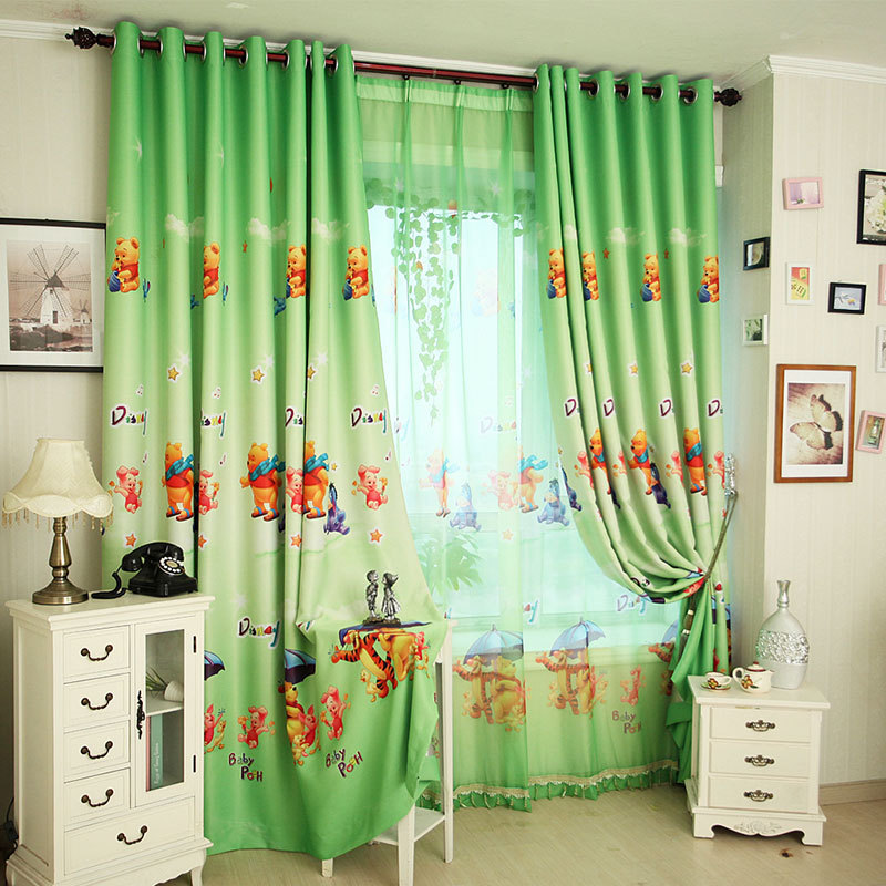 ... Winnie the Pooh boys curtains for kids green blockout curtains