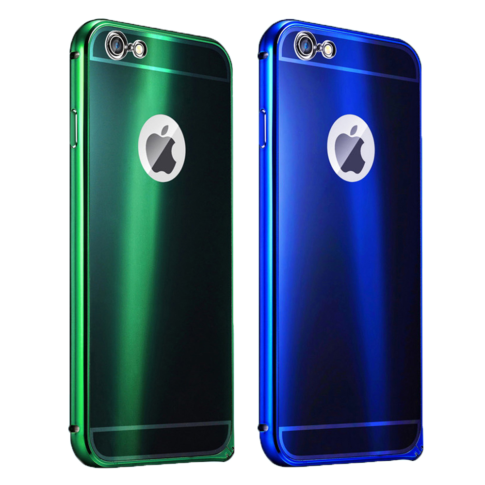 High Quality Colorful Ultra Thin Metal Case Bumper with PC back cover to Protect your font