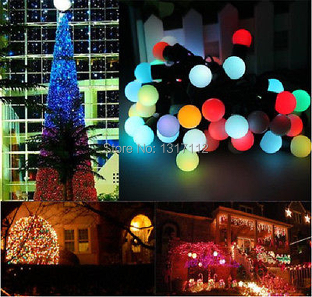 10*10m 100LEDs Ball String Fairy Lights Luces De Navidad Natal Garden Wedding Party Christmas lights outdoor(China (Mainland))