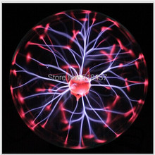 "Free Shipping High-quality Glass Plasma Ball Sphere Lightning Light Lamp Party magical ball electrostatic falshing ball dia4""68(China (Mainland))"