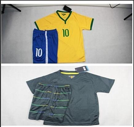Soccer Youth Jersey 10 PELE 10 Kaka 10 RONALDINHO 10 NEYMAR JR 2014 World Cup Jerseys Kids boy Football Shirt Children(China (Mainland))