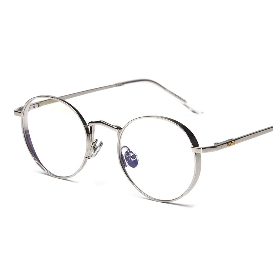 Metal Oval Optical Eyewear Vintage Retro Plain Women Men Computer Reading Glasses Myopia Eyeglasses Frame Brand Design oculos(China (Mainland))