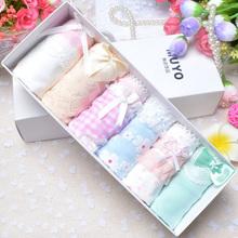 A box of 6 Japanese Lace Princess girl underwear cotton cute cartoon underwear box + FREE SHIPPING(China (Mainland))