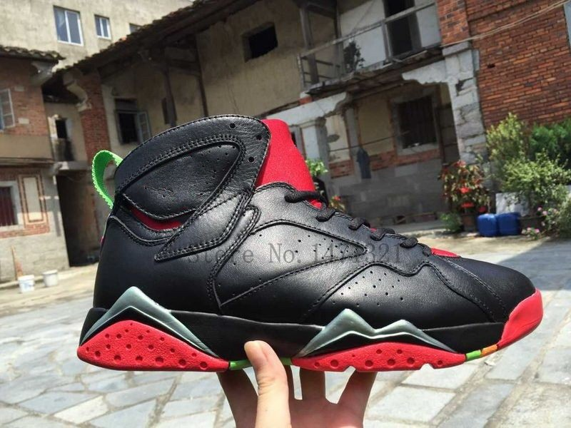 High Quality 2015 New Marvin the Martian Mens 7s Bordeaux Basketball Shoes For Sale(China (Mainland))