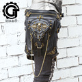 leather women bag carteras mujer bag Steam punk thigh Motor leg Outlaw Pack Thigh Holster Protected